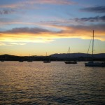 tramonto romantico ad Antibes