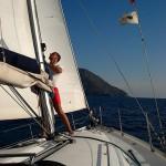 Lo skipper di Diana si dà da fare...