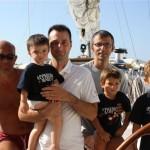 L'equipaggio di Conchita in Croazia; le mamme? tutte a spasso!